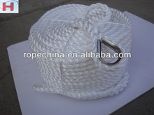 produce pp 3-strand twisted mooring rope