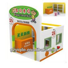 kids wooden doll house for preschool