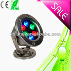 6w round RGB led underwater light ip68 2years warranty