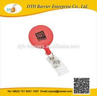 Cheap round credit badge holder wiht belt clip