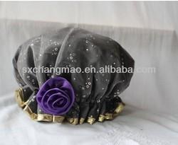 fashionable beauty satin ear shower cap