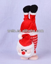 Handstand Santa Claus stuffed animal plush toy, jumping & moving his feet with music