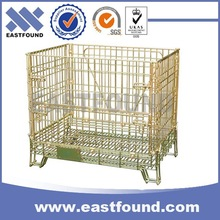 Galvanized collapsible stackabe steel wire mesh cage