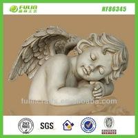 Baby Sleeping Cupid Resin Angel Figurines L35.70*W30.80*H23.00cm