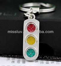 traffic lights enamel color key chain pendant charm key necklace pendant,for sales promotion gift
