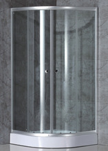 safe glass complete shower room with ABS tray