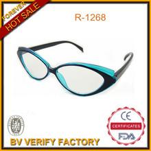 R-1268 Wenzhou eyewear factory cat eyes reading glasses, CE & FDA certified factory