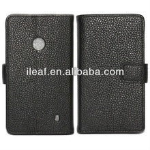 Hot Selling Wallet Style Flip Leather Cover Case With Stand For Nokia Lumia 520