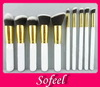 Sofeel 2014 10pcs high quality synthetic hair cosmetic makeup brush set