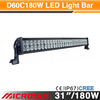 "31"" 180W Off Road LED Work Light Bar led truck roof light"