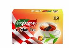 Pesticide residues for China/Taiwan Ceylon Tea Bags