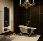 Modern wall mirrors with LED lighting