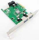 USB 3.0 2 Lan PCI Express Card (2 external ports + 2 internal ports) - Etron * Support IPad Charging