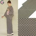 el japón kimono foto de empresa vestido de tiro a granel de compra al por mayor blanco y negro a cuadros de poliéster señora komon traje étnico vestido