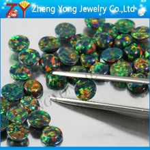 Synthetic Opal/Round Opal/Flat Black Opal