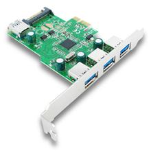 USB 3.0 PCI-Express Card (3 External + 1 Internal Ports)-Etron * Support IPad Charging