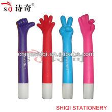 plastic mini exquisite gesture ball pen office supply