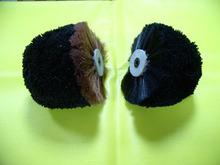 half rounded black horse hair shoes polishing machine shoes cleaning machine brush/ block brush