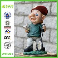 Active Dwarf Stand Garden Resin Gnome Sport Art