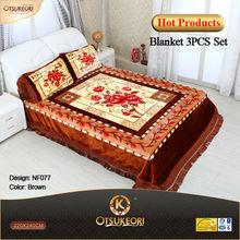 100% polyester Raschel Blanket Bedsheet sets 3 PCS-- STOCK Ready for shipment