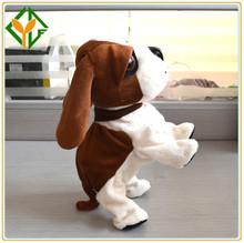 Intelligent Walking Dog /New Classic Battery Operate Walking Dog with Sound,Plush Battery Operate Animal