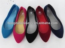 Fashion flocking ladies flat shoes 2014