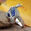 thailandia gioielli Blue Dolphin 925 anelli in argento sterling