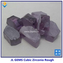 Wholesale synthetic light Amethyst zirconia Uncut Rough & Raw Material