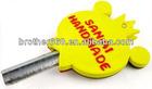 customized logo double sides 2D soft pvc Key Cover/cap