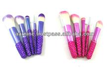 5pcs exquisite bling rhinestone makeup brush set from China
