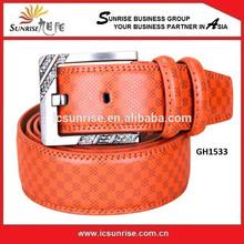 New Arrival Zinc Alloy Buckle Men's Leather Belt