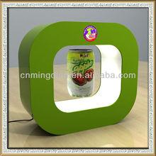 acrylic levitating bottle display with led light, acrylic LED magnet floating bottle display stand