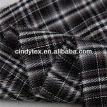 40*40 drapery soft plaid yarn dyed cotton black white stripe fabric