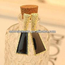 Latest bali black enamel dubai gold jewelry earring