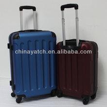 spinner wheels aluminium tube 2014 pupular style hard case luggage ABS trolley case