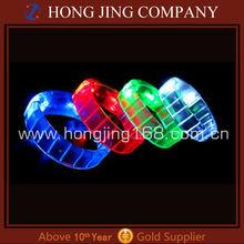 Party decoration led flashing bracelet and sound activated led bracelet
