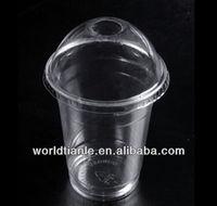 plastic bubble tea cup with dome lids