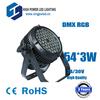 led rgb 54x3W, dmx rgb outdoor led light, factory directy supply
