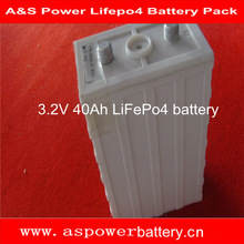 rechargeable prismatic LiFePo4 battery 40Ah 3.2V for ev, storage