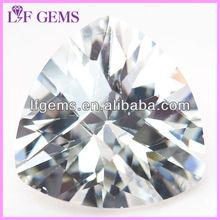 guangxi white aaaa wax casting fat triangle cubic zirconia