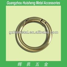 High Quality Handbag Accessories Metal O Ring For Bags Zinc Alloy O Ring Fashion Metal Spring Ring