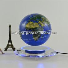 Magnetic floating globe, magnetic rotating globe, magnetic suspended globe with led lights-blue globe