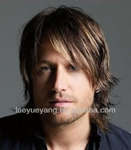 Best selling 100% lace front synthetic men wig