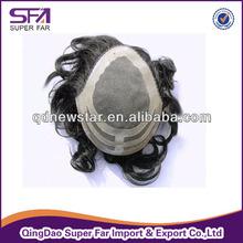 fashion design natural looking mono men toupee wig