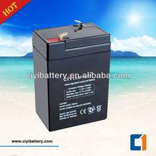 Sealed Maintanence Free Valve Regulated Battery Lead Acid Battery 6V 4AH