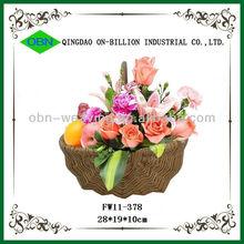 Wholesale cheap knitting wicker basket for flower
