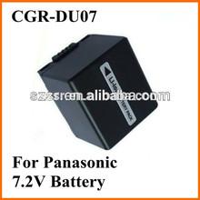 For Panasonic camcorder world travel battery pack CGA-DU07