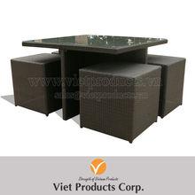 Corner - Flat Poly rattan Dining set/ Wicker table set
