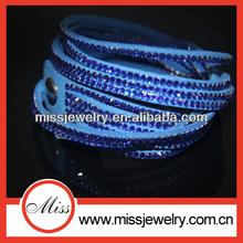 2014 top fashion cheap bindy wrap around leather bracelet