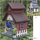 2014 new design antique wooden bird house